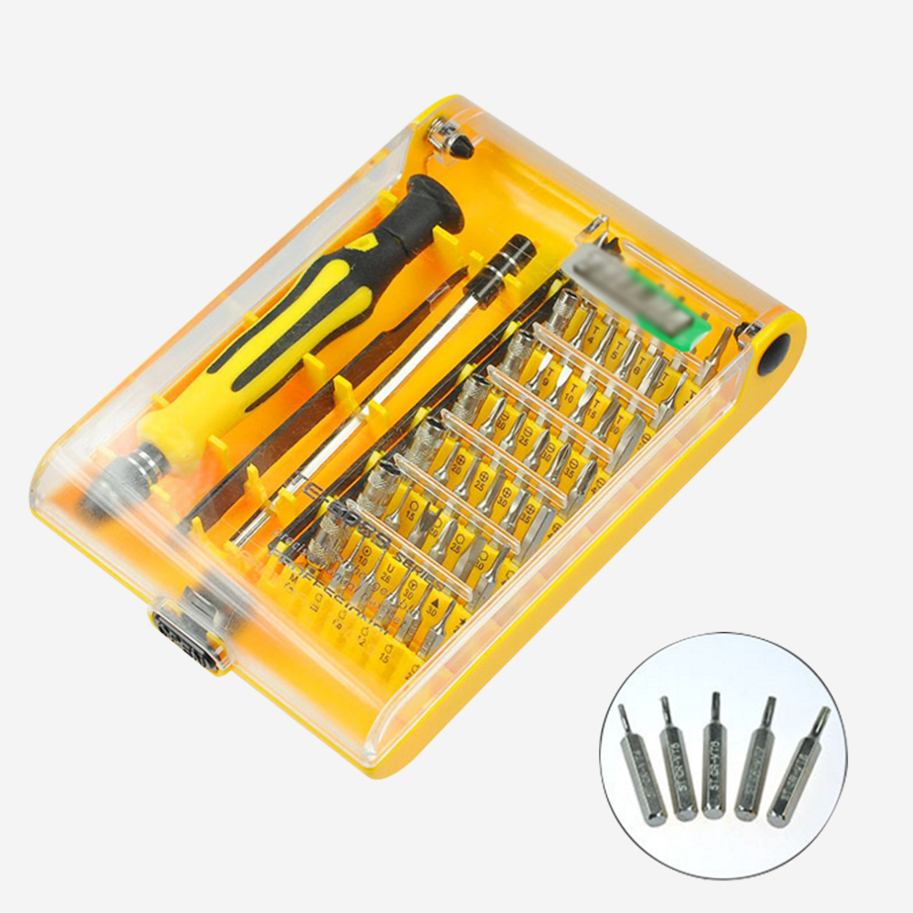 45 in 1Yellow box Magnetic Screwdriver Set Torx Screwdriver Bit Tool Kit for Watch PC iPhone Smart Phone Repair Dismantle Tools high quality 53in1 multi bit repair tools torx screwdrivers kit set for electronics pc laptop ver54 page 4