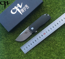 CH 3005 new folding knife AUS-8 blade ball bearing TC4 titanium alloy + carbon fiber handle camping hunting pocket fruit knife E