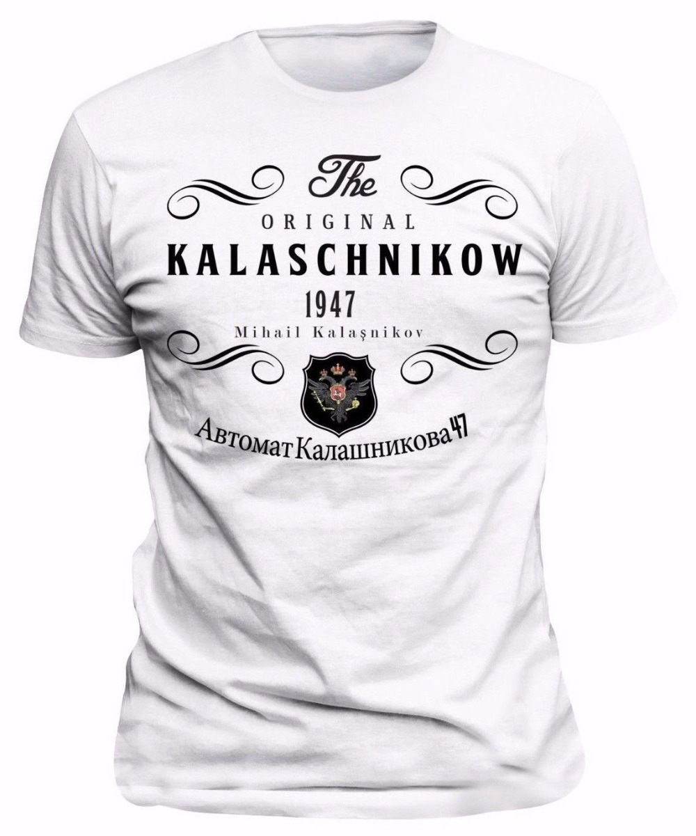 Men'S Things Print T-Shirts Original T-Shirt Russia Kalashnikov CCCP Moscow Russia Tee shirt free shipping