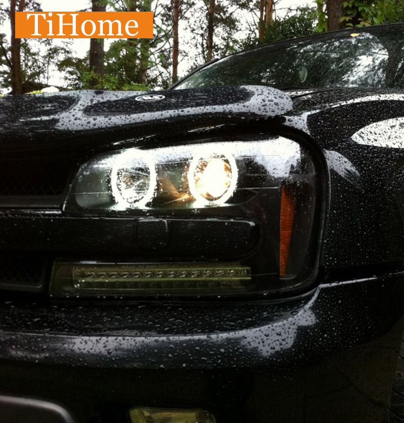 Hot Free Shipping TrailBlazer CCFL Angel Eyes Kit Non Projector Halo Ring Cool White CCFL Car