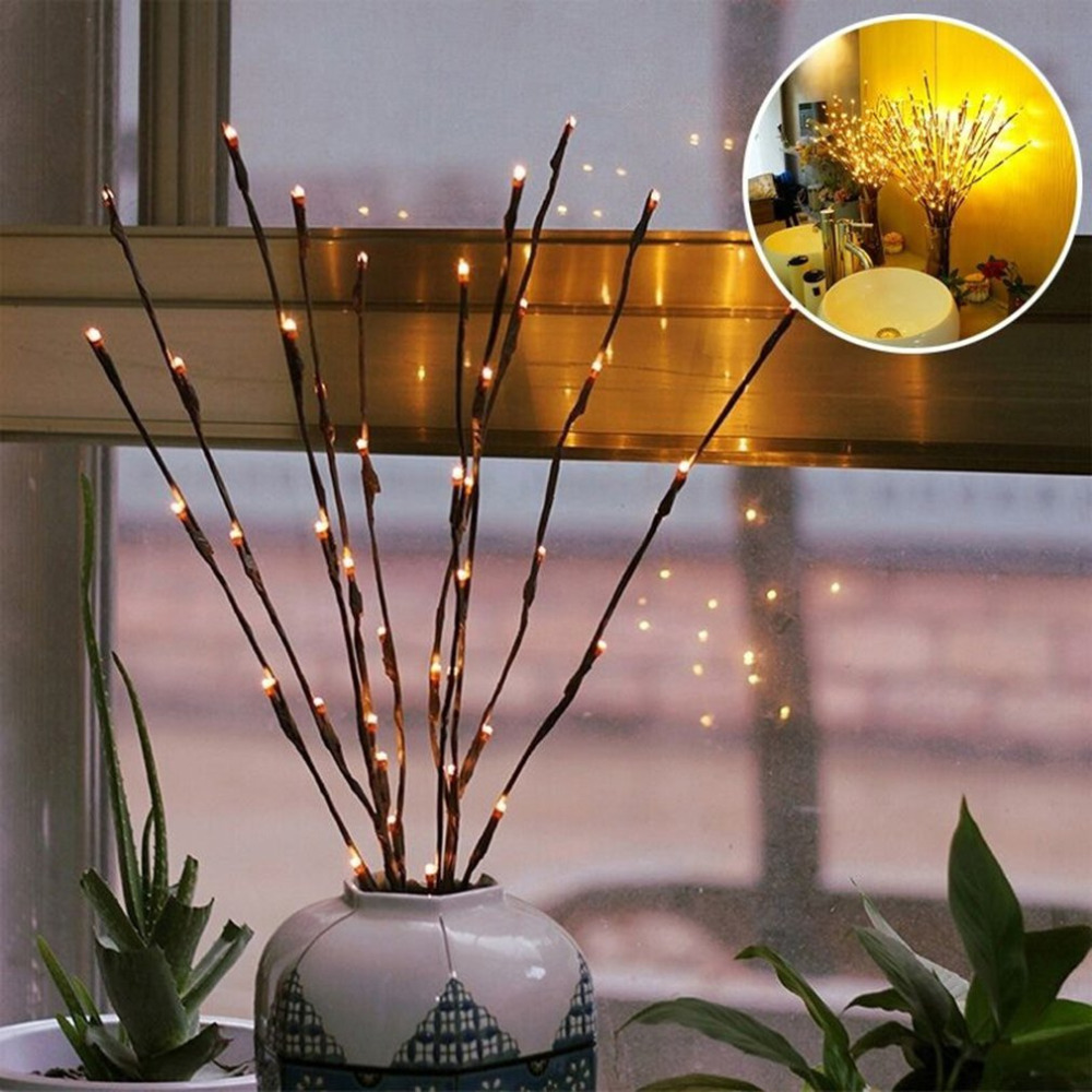 20 Led String Light Simulation Branch Fairy Light Holiday Home Outdoor Wedding Christmas Decor Birthday Gifts