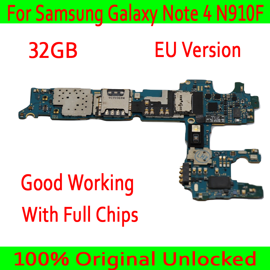 EU Version For Samsung Galaxy Note 4 N910F Motherboard,Original unlocked for Note 4 N910F Logic board + Full Chips,Free ShippingEU Version For Samsung Galaxy Note 4 N910F Motherboard,Original unlocked for Note 4 N910F Logic board + Full Chips,Free Shipping