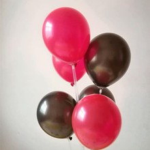 Black latex balloons 100pcs/lot 10inch 1.5g pearl red ballon decoration anniversaire birthday party decorations adult baloon