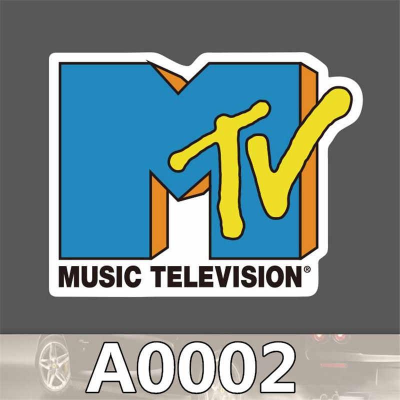 2 adet/torba MTV sticker seyahat kaykay arabası sticker vücut sticker karikatür graffiti PVC su geçirmez etiket A0002