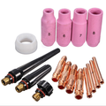 Free shipping 16Pcs Brand New High Quality TIG KIT & WP SR 17 18 26 Series TIG Welding Torch Consumables Accessories