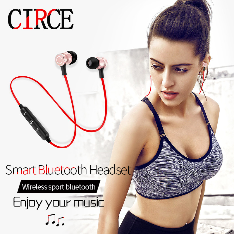 2017 Bluetooth  Wireless Headset  4.2 stereo Ear Phone headphones earphone Sport Bluetooth Headphone for iPhone Samsung car charger bluetooth wireless headphones in ear earphone headset mini stereo headphone white color
