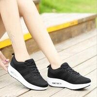 Women Sneakers 2018 Women Platform Flat Shoes Women Breathable Casual Sport Shoes Chaussures Femme Size 35