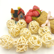 10pcs 3cm Balls White String Light Sepak Takraw Rattan Outdoor Christmas/Wedding/Party Decoration Lighting Supplies