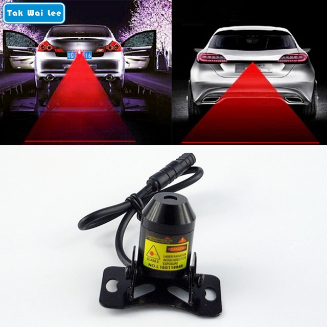 Car Warning Laser Tail Anti-Fog Light Auto Brake Parking
