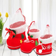 Dozzior Children Kids Cute Boot Shape Bag Chrismas Festive Party Candy Box Tree Hanging Xmas Decor Christmas Party Fancy Gift(China)