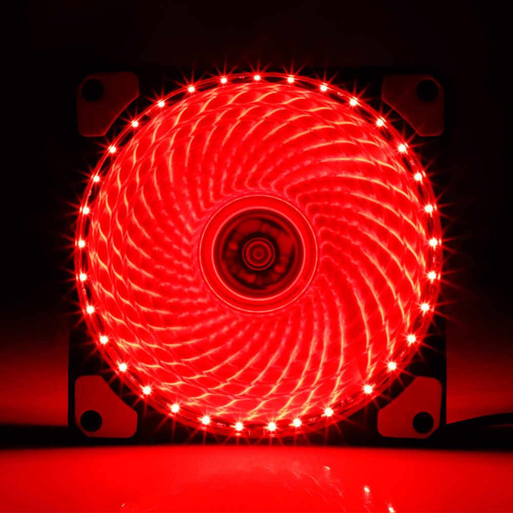 رائجة البيع 120 مللي متر LED الكمبيوتر مروحة مروحة تبريد الكمبيوتر برودة حافظة صامتة تحكم LED مروحة أضواء قابل للتعديل اللون مروحة للكمبيوتر