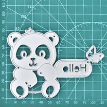 Naifumodo Bear Butterfly Letter Metal Cutting Dies Scrapbooking for Card Making DIY Embossing Cuts New Craft Die Animal