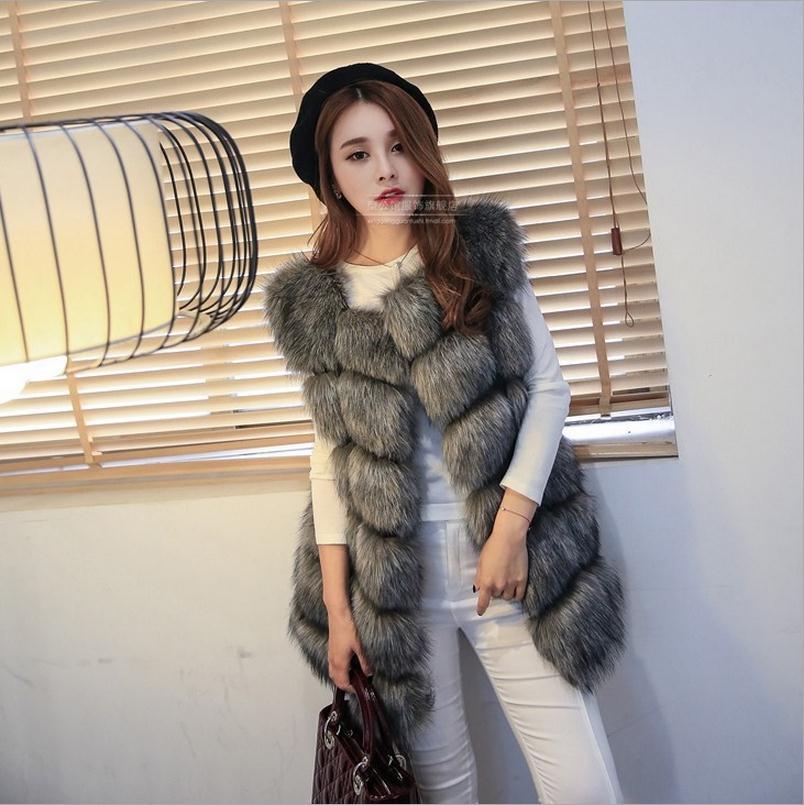 Plus Size S XXXXL New Arrival Winter Warm Fashion Women Import Coat Fur Vest High Grade