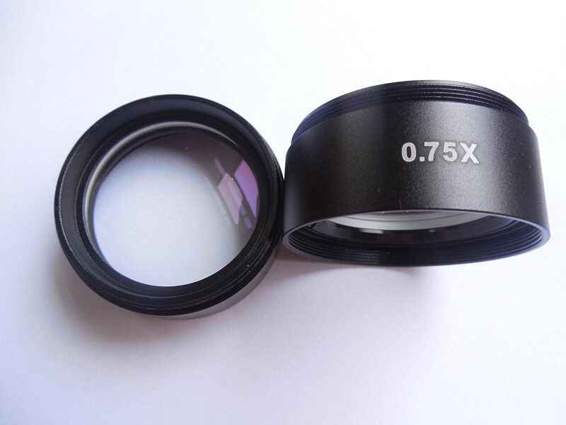0.75x Barlow Microscope Objective Auxilliary Objective Lens For Stereo Microscope with 117mm Thread Diameter1-7/8