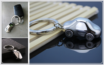 Auto parts simulation model key ring metal rim shape for BMW 530Li 335i 750i 330i 325i 320si 630i E34 F10 F20 image