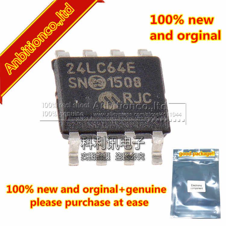 5 قطع 100% جديد و الاصلي 24LC64-E/SN 24LC64E SOP8 64 كيلو I2C المسلسل EEPROM في الأسهم