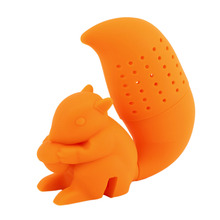 Silicone Filter Diffuser Squirrel Shape Tea Infuser Loose Leaf Strainer Bag Mug Filter Friends Applied