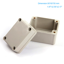 Free shipping ,  IP66 Waterproof Small Boxes ABS plastic junction enclosure .distribuiton box 50*65*55mm