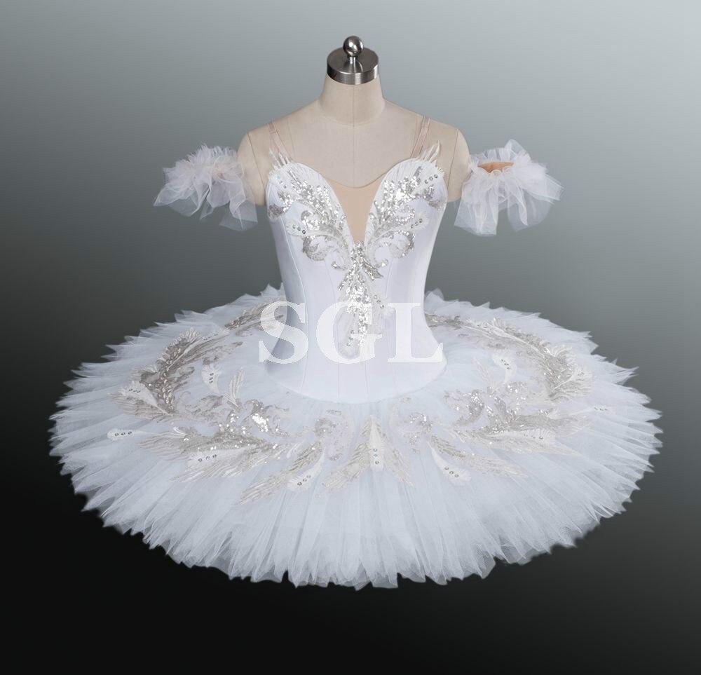 White Swan Tutu Women Girls Professional Ballet Tutu Adult Matcracker White Tutu For Competition Dance Costumes
