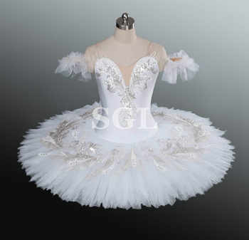 White Swan Tutu Women/Girls Professional Ballet Tutu Adult  Matcracker White Tutu For Competition Dance Costumes AT1157 - DISCOUNT ITEM  0% OFF All Category