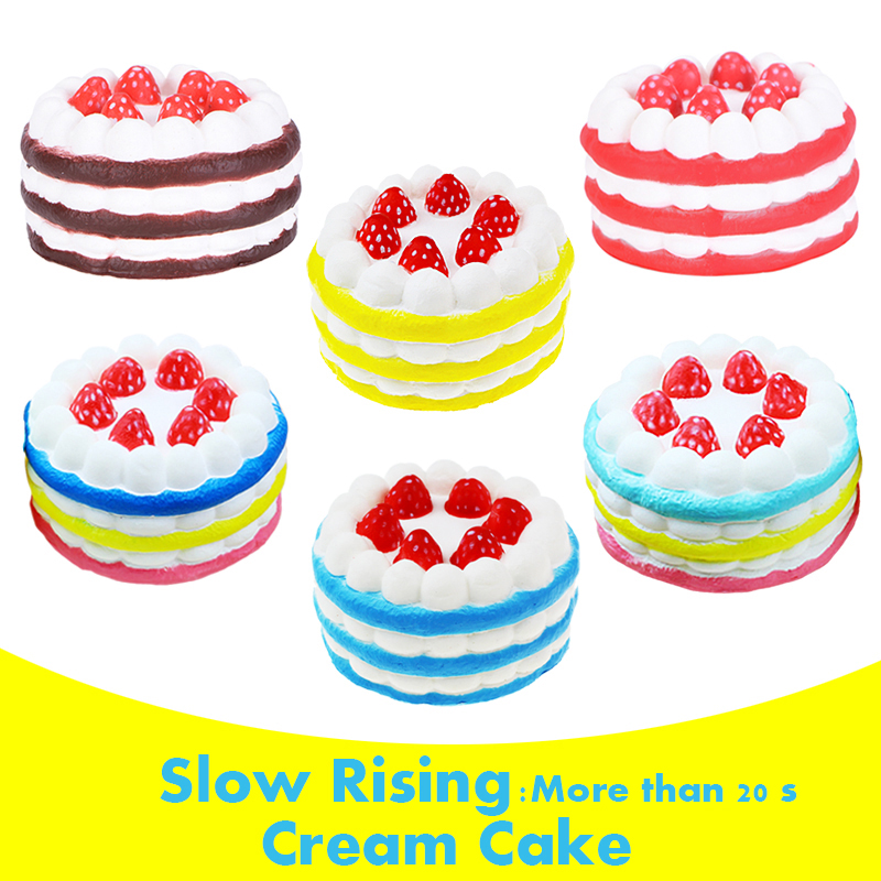15s Cream Cake Mango Yellow Rose Kids New Year Toy Gift Phone Strap Wholesale Cellphones & Telecommunications Kawaii Strawberry Cake Slow Rising 10s