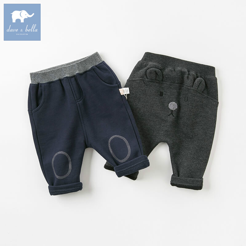 DBW8560 dave bella autumn baby boys fashion full length trousers kids lovely pants children boutique clothes dba7845 dave bella autumn baby boys fashion jeans children full length kids denim pants infant toddler trousers