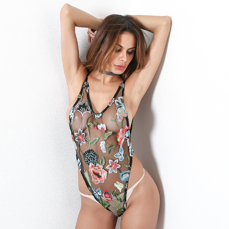 Mesh Sexy Summer Jumpsuit Streetwear Rompers Womens Bodysuit 2018 Zaful Jumsuit Body Catsuit Dungarees Clothes Kambenizon Floral
