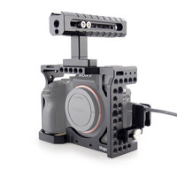 MAGICRIG DSLR Camera Cage with Top Handle + HDMI Cable Clamp For Sony A7RIII /A7RII /A7II /A7III /A7SII /A7M3 DSLR Cage Rig Kit