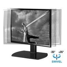 Fitueyes универсальный настольный ТВ подставка для 20 до 37 дюймов ТВ S с 35 градусов поворотный, закаленное стекло, вместить до tt104001gb