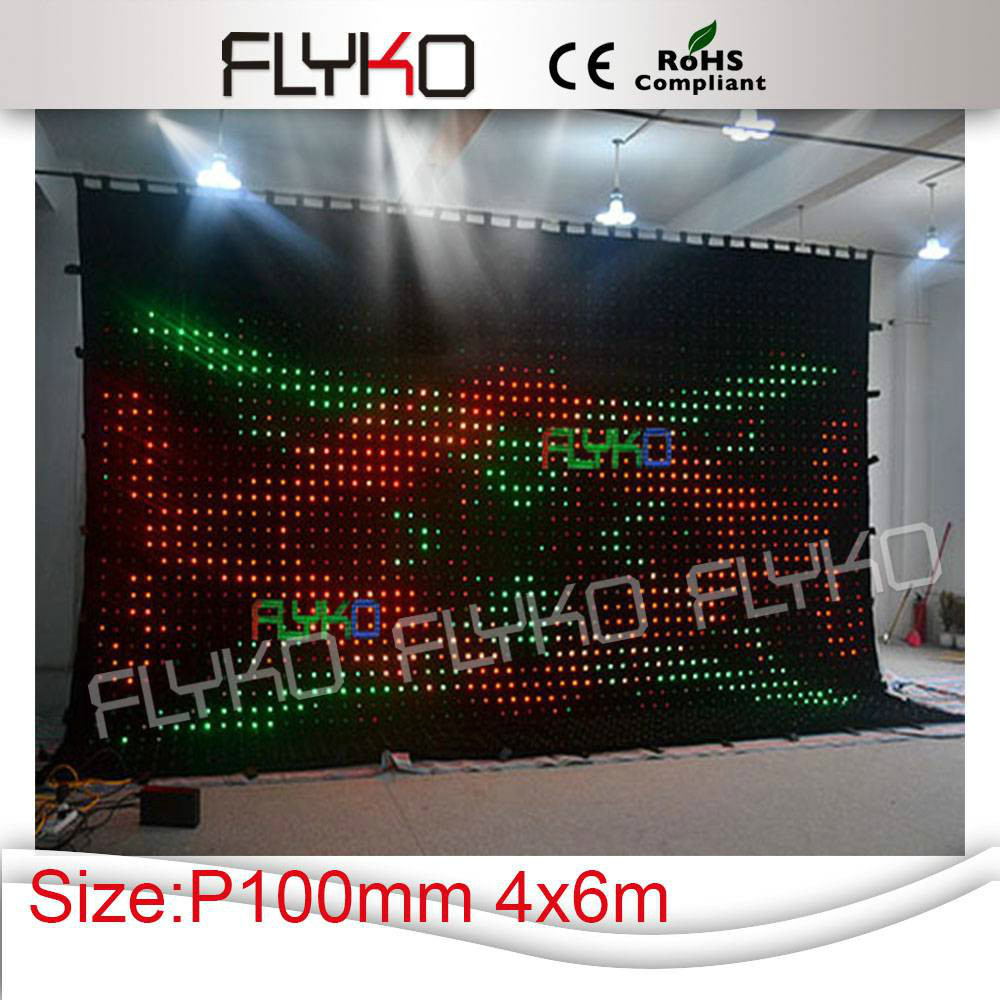 new products innovation wedding stage backdrop decoration led video curtain