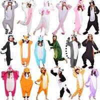 Zwierząt Krowa Kaczka Kangur Onesie Cosplay Costume Dorosłych Piżamy Fox Tiger Pies Królik Niedźwiedź Kot Wiewiórka Penguin Osioł Piżamy