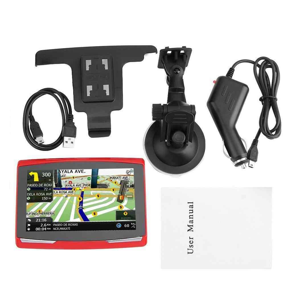 5 inch Auto GPS Navigatie Sat Nav 8G CPU800M Wince6.0 + Fm-zender + Multi-talen Auto Kompas bluetooth WIFI FM Zender