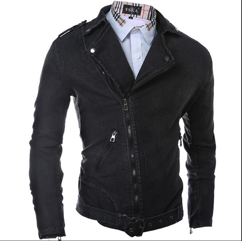Popular Mens Black Denim Jean Jacket-Buy Cheap Mens Black Denim ...