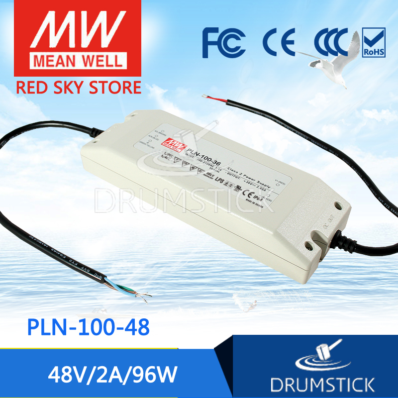Selling Hot MEAN WELL PLN-100-48 48V 2A meanwell PLN-100 48V 96W Single Output Switching Power Supply [cheneng]mean well original clg 100 48 48v 2a meanwell clg 100 48v 96w single output led switching power supply