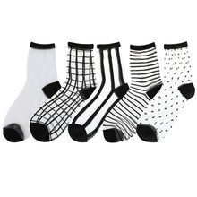 Women Ladies Socks Fashion Sheer Mesh Glass Silk Socks Ultrathin Transparent Crystal Lace Fabulous Elastic Summer Ankle Sock(China)