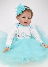 22 cal silikonowe odrodził lalki Realistyczne Realistyczne reborn-baby-lalka Księżniczki Noworodka Zabawki Dla Dziewczyn Prezent
