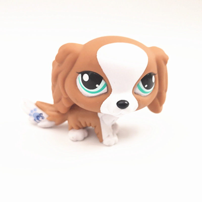 Rare LPS Pet Dog #1825 Brown and White Puppy King Charles Spaniel Dog Mini Action Cute Loose Figure Children's Best Gift