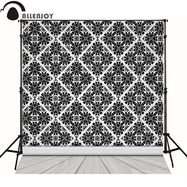 Allenjoy photographie arrière-plans motif victorien intérieur noir luxe arrière-plans élégants pour studio photo pas de plis phtocall