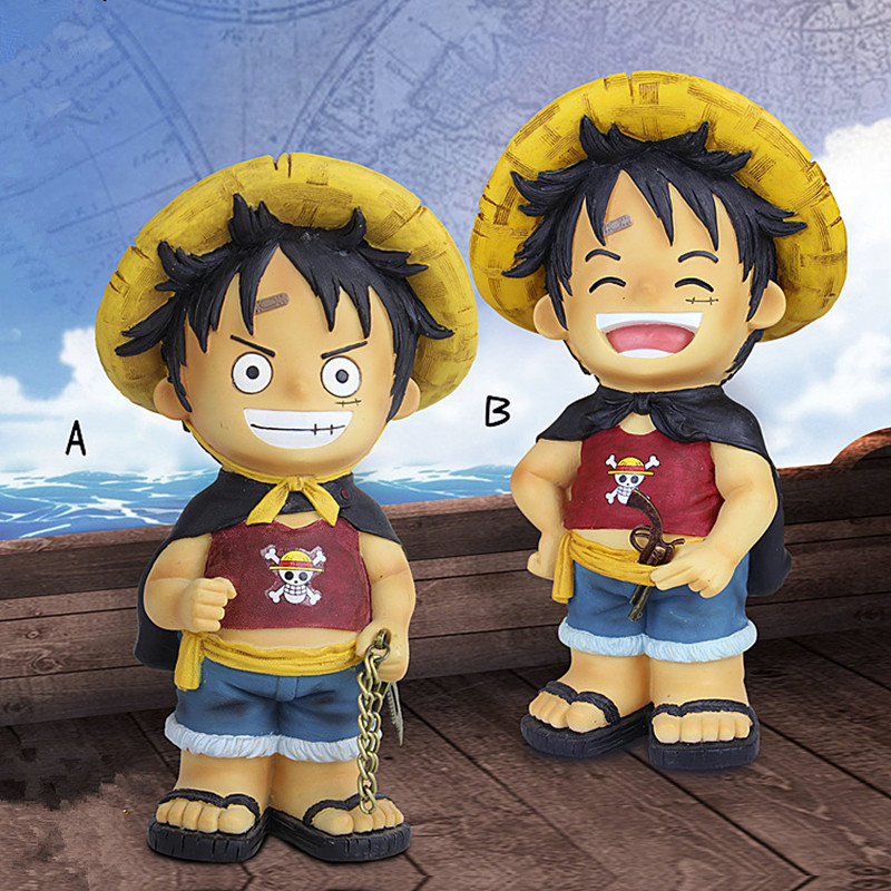 ONE PIECE Monkey D. Luffy Piggy Bank Anime Eiichiro Oda Coin Penny Cent Money Saving Saf ...