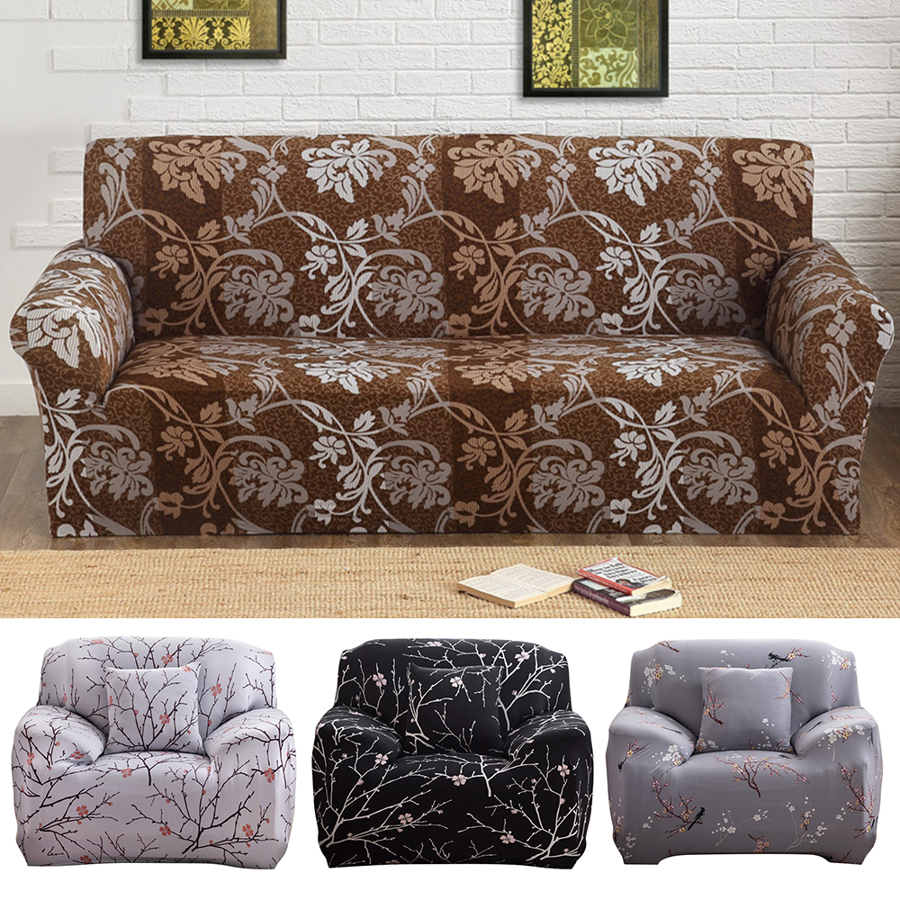 two seater sofa recliner slipcovers for sofas with t cushions covers european style print living room cotton ...