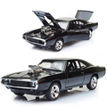 1/32 diecast cars Scale Fast & Furious 7 Alloy Dodge Charger Toy Cars Collection Gift For Boys New Year.