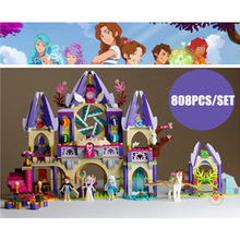 New Skyra's Mysterious Sky Castle fit legoings fairy Elves figures friends 41078 Building Blocks Fairy Tale Girls toy gift kid