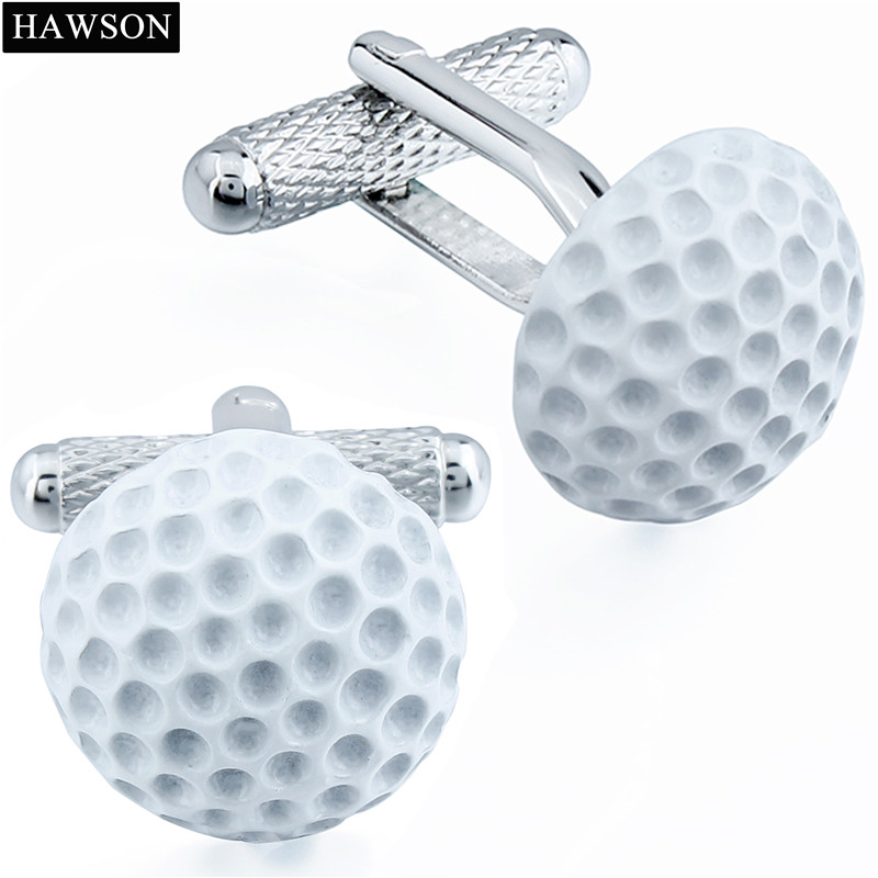 Ball Type White Golf Cufflinks Trendy Enamel Best Men Dress French Shirts Cufflinks