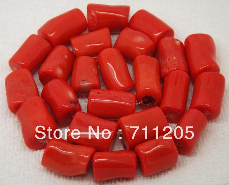 Free Shipping !10-13x14-19mm Orange Coral Freeform Loose Beads 15,Min. Order is $10,we provide mixed wholesale for all items !