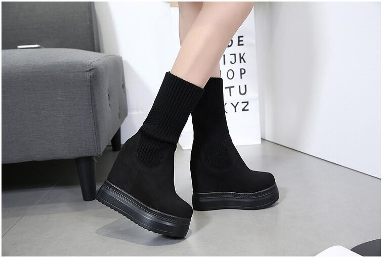 Chaussures Étanche Bottes Haut 1 forme Plate Martin Super Laine 2 Talon Surélévation Bouche 2018 Fille Nouveau qPAwUBUX