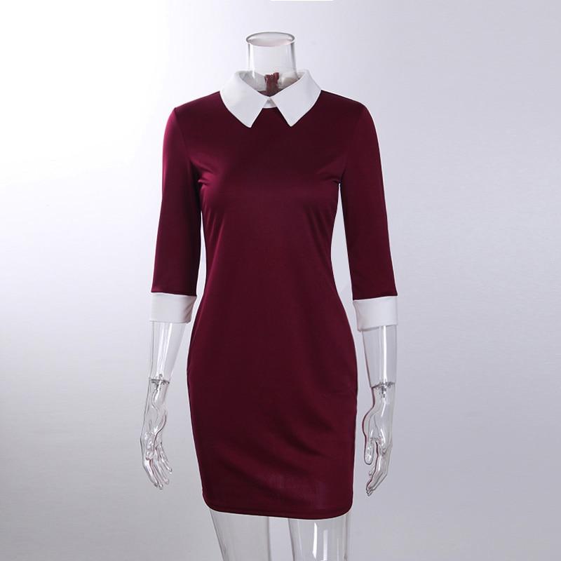 Žene Haljine 2017 Moda ŽeneOtvoreni ovratnik Slim Casual Haljine - Ženska odjeća - Foto 6