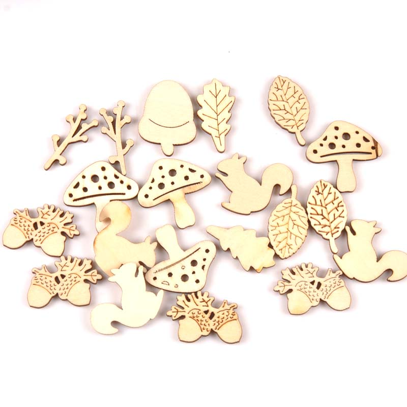 40pcs Natural forest animal wood Scrapbooking Carft for Kid painting diy accessories home decor ornament 30-35mm MT215440pcs Natural forest animal wood Scrapbooking Carft for Kid painting diy accessories home decor ornament 30-35mm MT2154