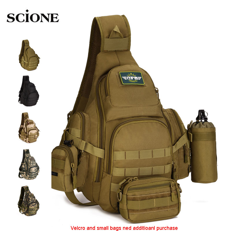 Molle Military Sling Bags Camping Backpacks Molle Travel Bag Belt Single Shouder Assault Outdoor Sports Nylon