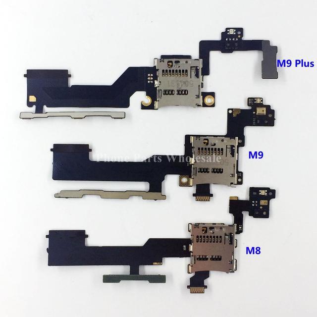 5x Botão Interruptor de Volume Cabo Flex Com Slot Para Cartão SIM titular peças de reposição para htc one m8 m9 m9 + m9 além de