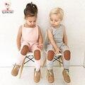 Guardapolvos de las muchachas de bebé legging niños Mameluco KAMIMI nueva marca boy trajes de 1-4y bebé pantalones niños pantalones del bebé jumpsuit A806